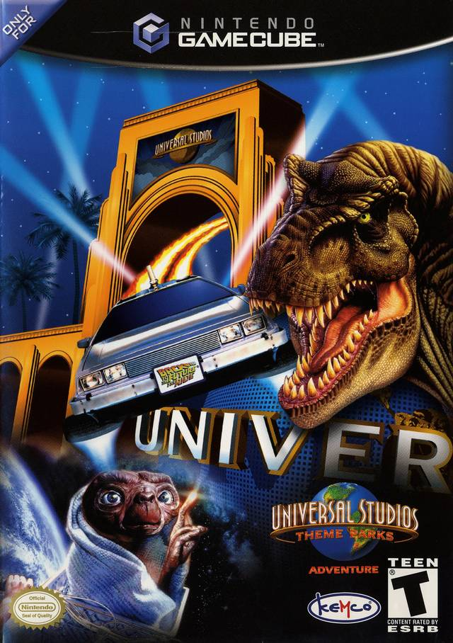 The box art for Universal Studios Theme Park Adventure