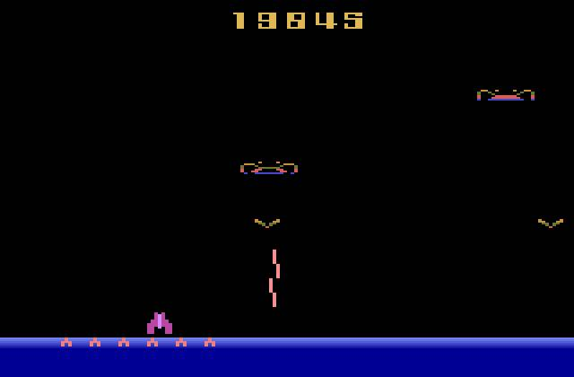 Although they're not much to look at, it's games like Demon Attack that'll keep you trying for a better score.