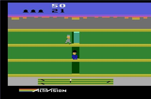 Sega's Bonanza Bros. must've been inspired by Keystone Kapers, Activision's cops and robbers game.