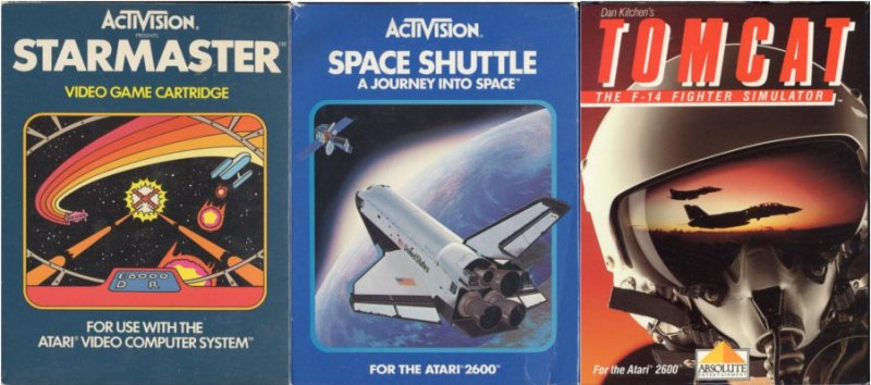 Here we have three deep and different flight simulators for the Atari 2600. And no, that's not an oxymoron.