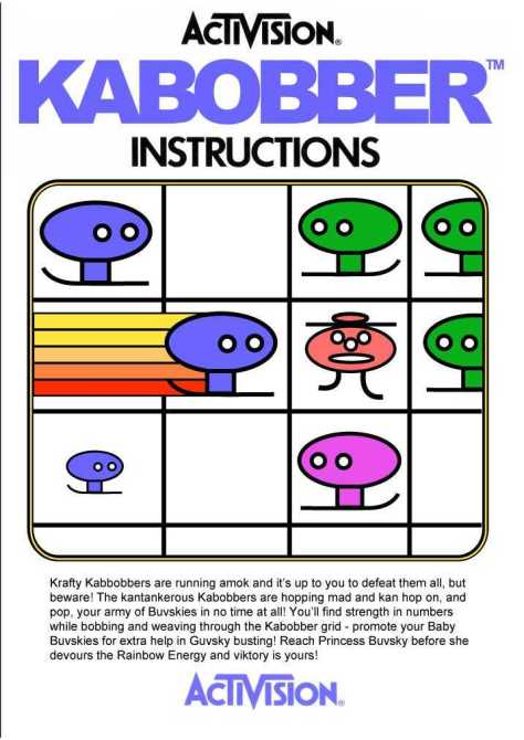 You really ought to check out how well Dave Giarrusso duplicated Activision's manuals for this game.