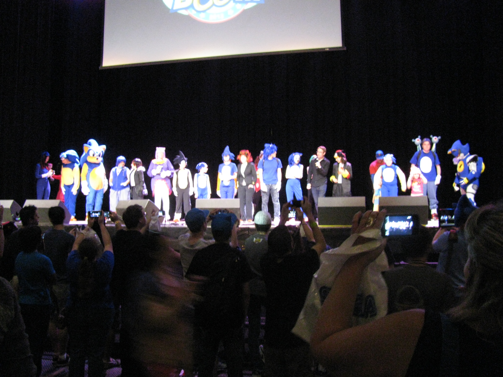 Most of the costume contest contestants.