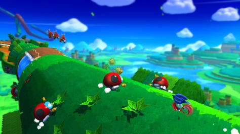 Both versions appeared to have 2D and 3D platforming sections.