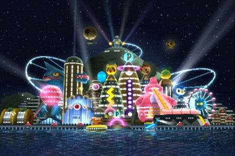 The setting for this game was Poketopia, a theme park of sorts.