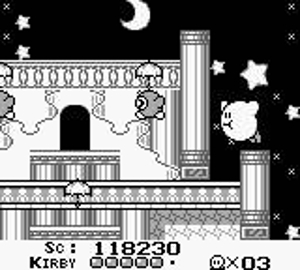 Kirby's flight was unlimited, unlike in later games, I believe.