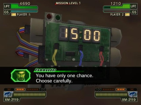 Each stage had multiple events, such as this bomb defusing minigame.