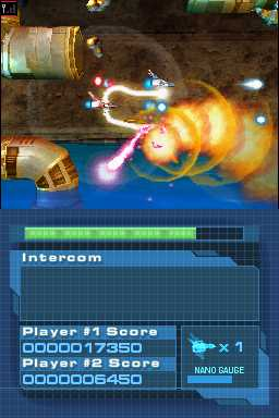 The game had cooperative and competitive modes for two players.