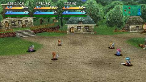 Battles took place in fully roamable arenas - an evolution of Tales of Phantasia.