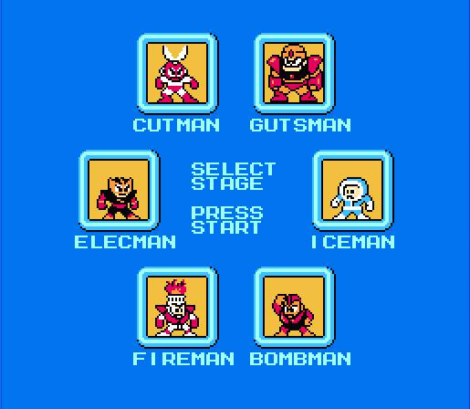 The ability to select the stage order was something of a novelty when Mega Man released.