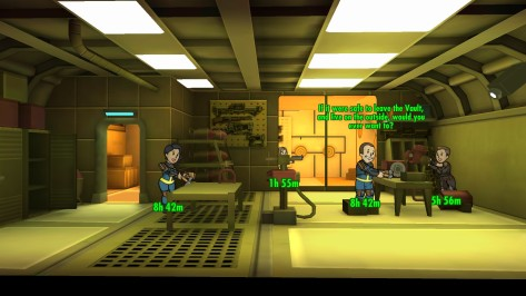 Zooming in reveals the dwellers having conversations or spouting one-liners.
