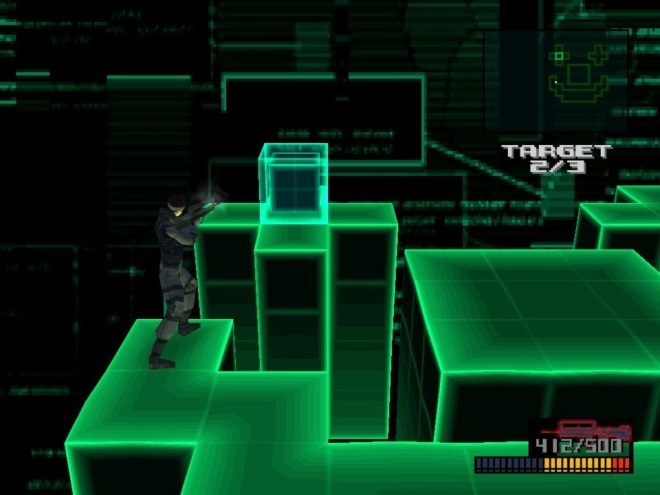 The majority of the missions had a wireframe visual style.