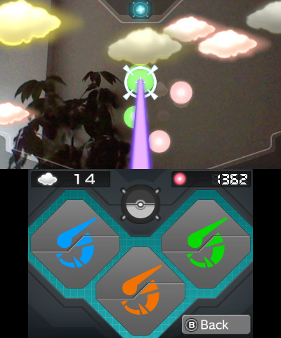 Pokemon Dream Radar - Clouds and Orbs