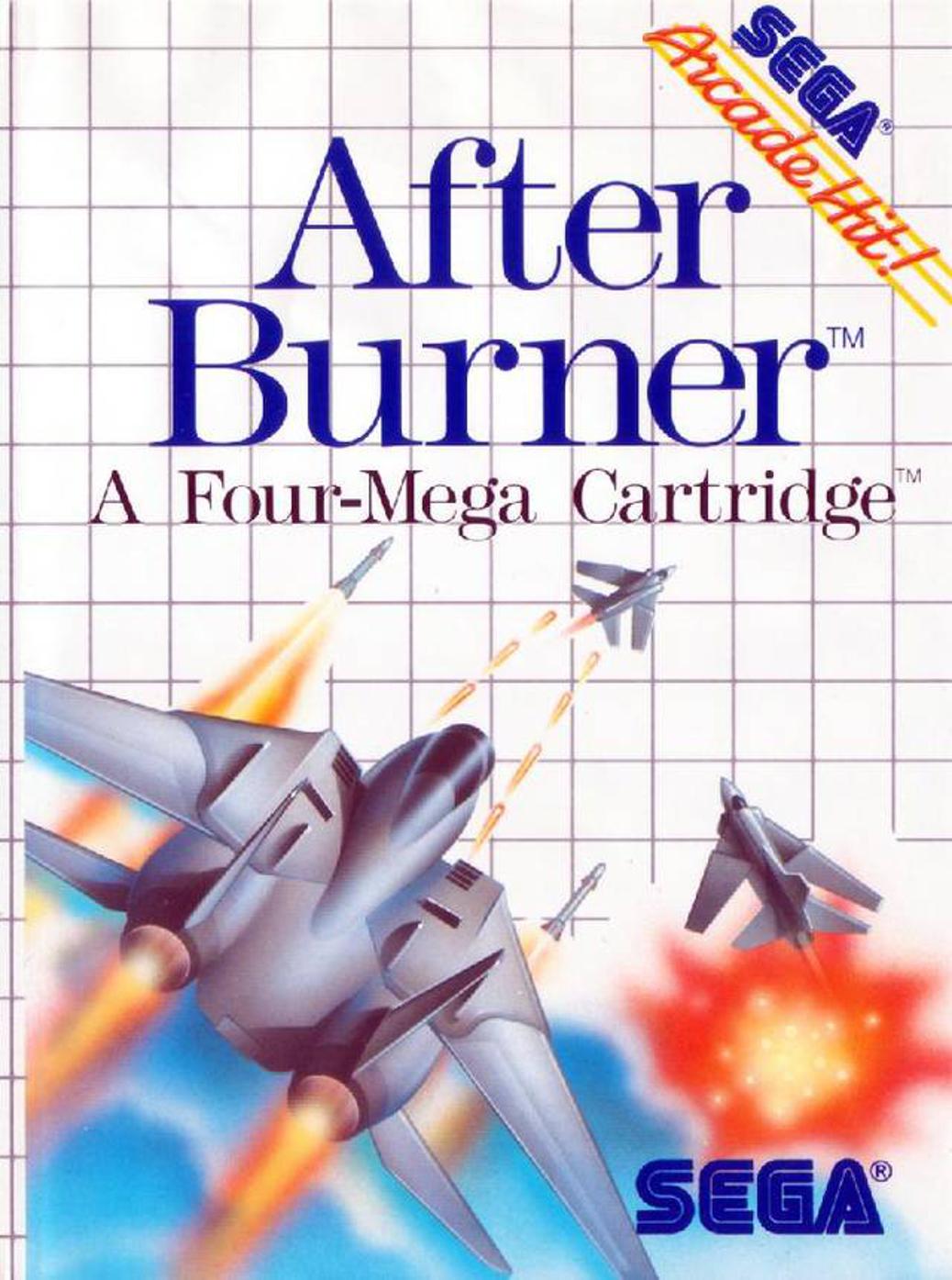 After Burner - Sega Master System - Box Art