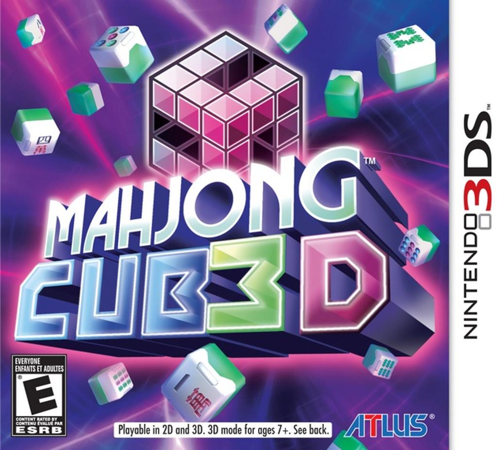 Mahjong Cub3d - Nintendo 3DS - United States Cover