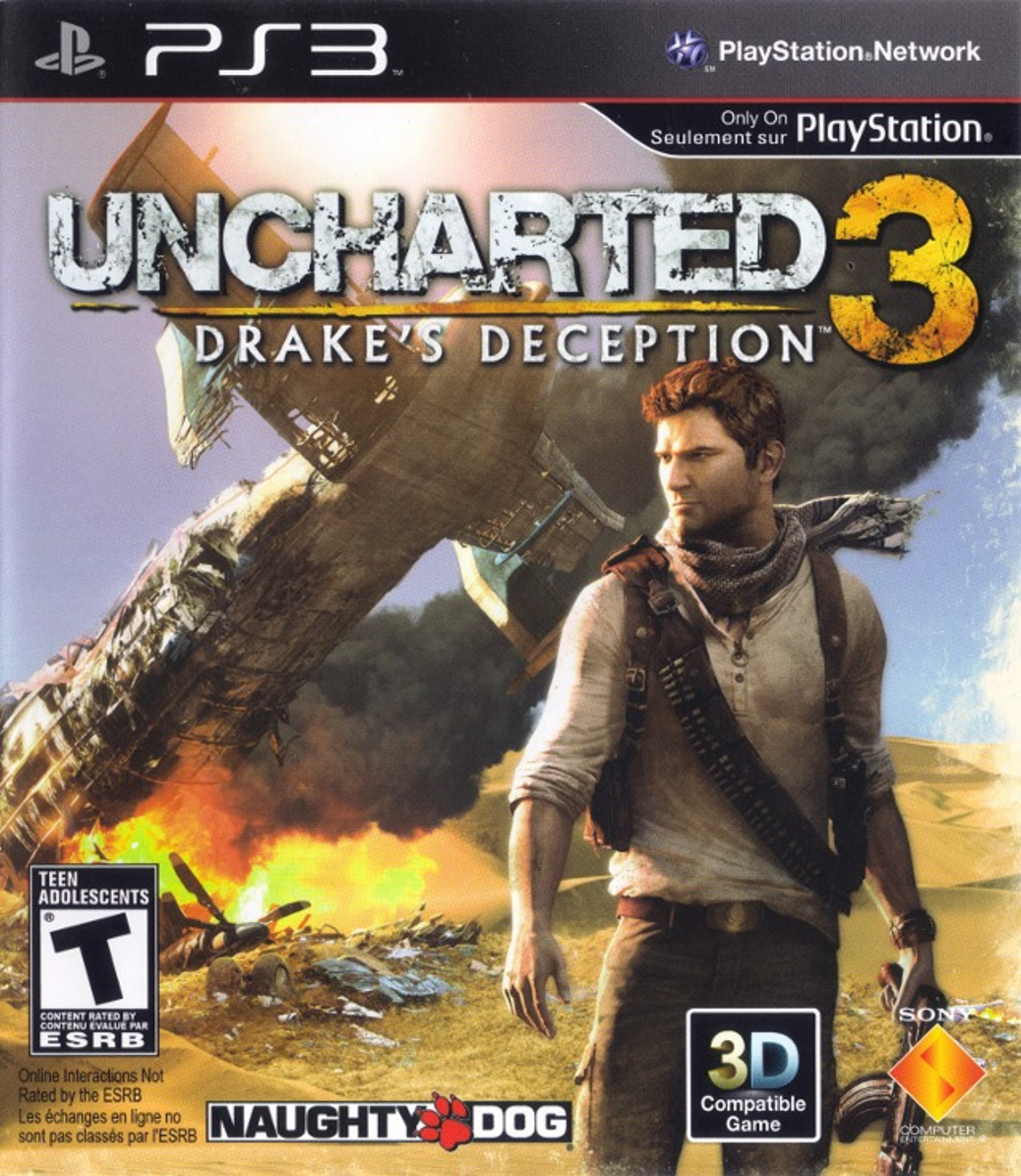 Uncharted 3 Drake's Deception - PlayStation 3 - North American Cover