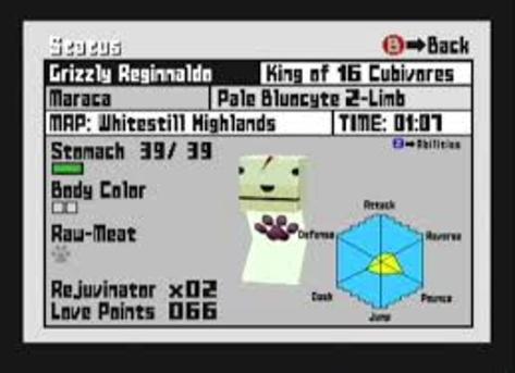 Cubivore - GameCube - Stats