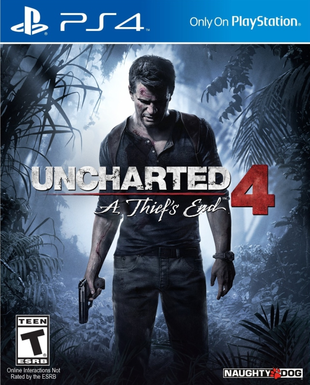 Uncharted 4 A Thief's End - PlayStation 4 - North American Cover