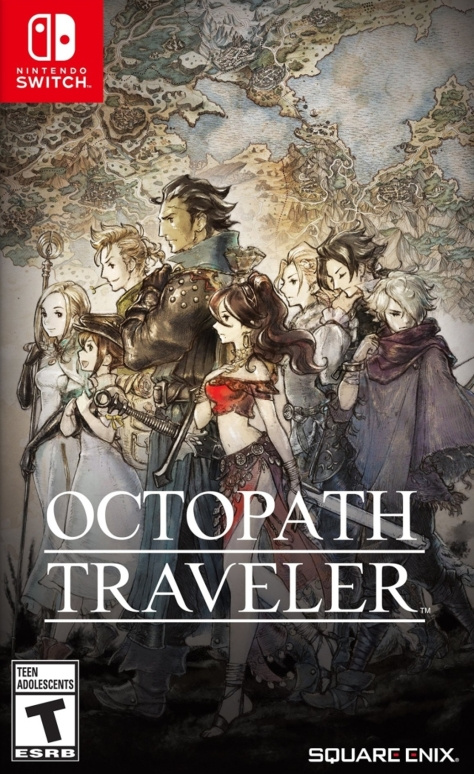 Octopath Traveler - Switch - North American Box Art