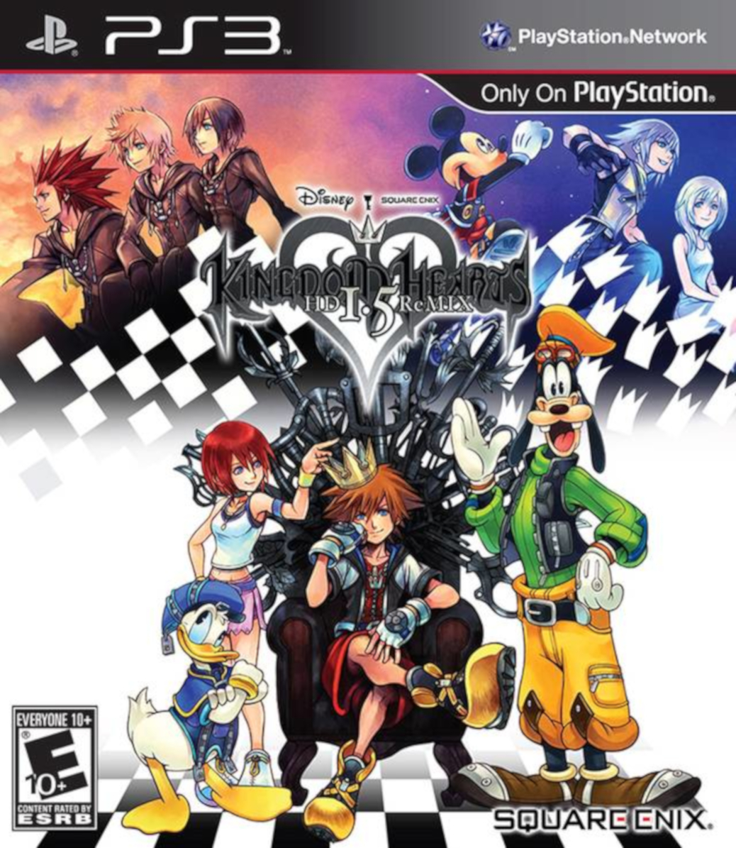 Kingdom Hearts HD 1.5 ReMIX - PlayStation 3 - North American Box Art