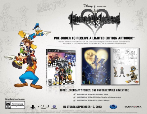 Kingdom Hearts HD 1.5 ReMIX - PlayStation 3 - North American Pre-order Bonuses