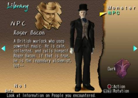 Shadow Hearts - PlayStation 2 - Roger Bacon