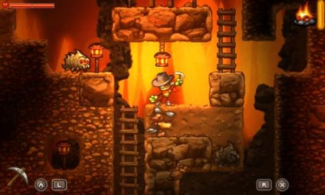 SteamWorld Dig - Nintendo 3DS - Digging