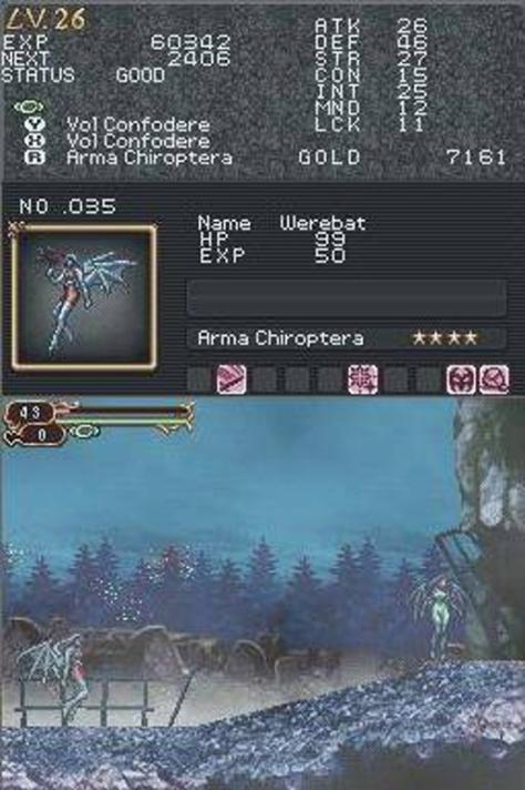 Castlevania Order of Ecclesia - Nintendo DS - Familiars