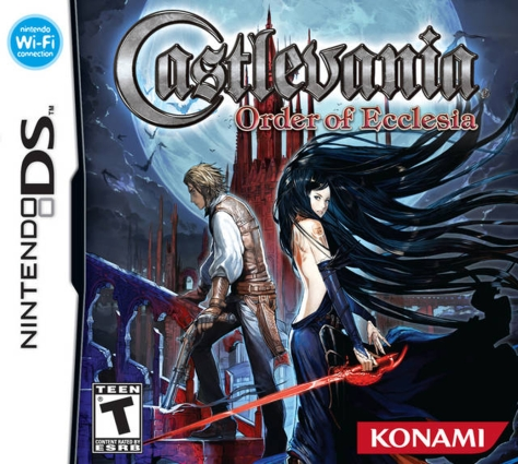 Castlevania Order of Ecclesia - Nintendo DS - North American Box Art