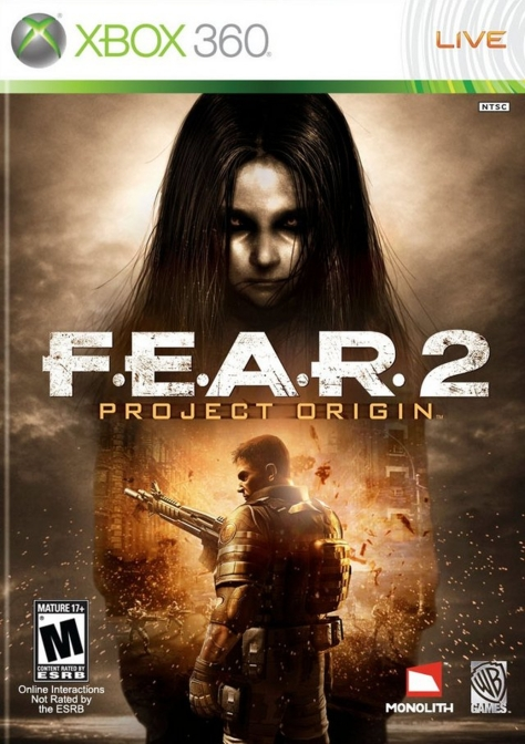 F.E.A.R. 2 Project Origin - Xbox 360 - North American Box Art