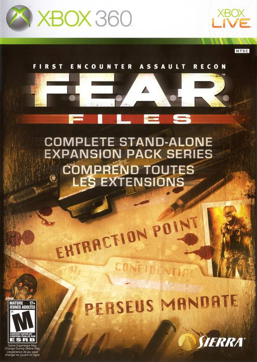 F.E.A.R. Files - Xbox 360 - North American Box Art