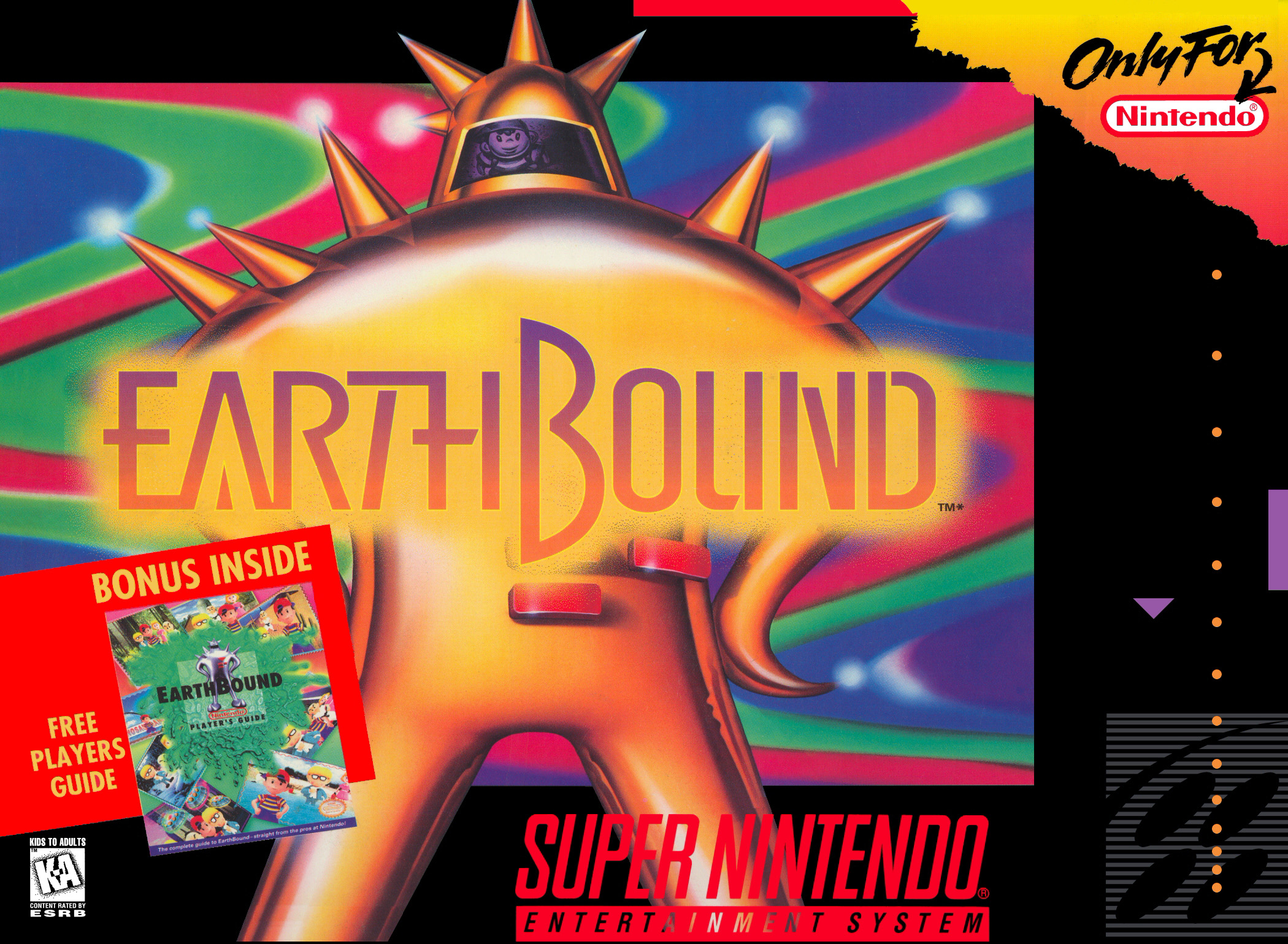 EarthBound - Super Nintendo - North American Box Art