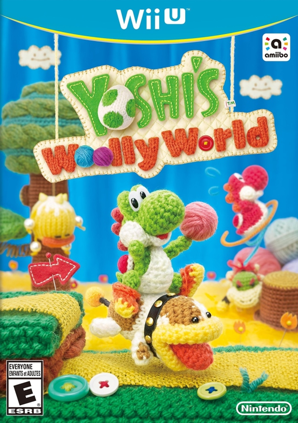 Yoshi's Woolly World - Wii U - North American Box Art