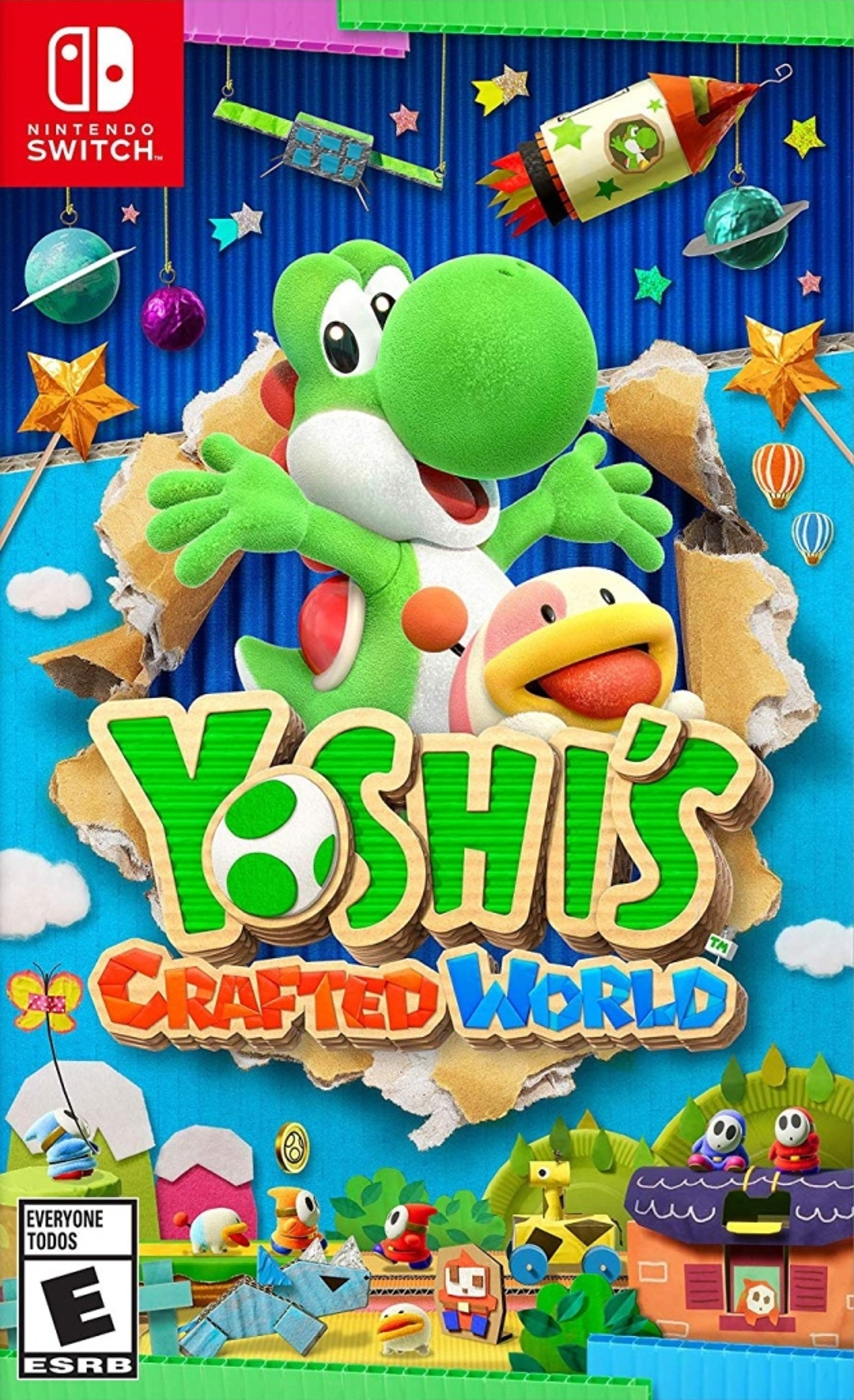 Yoshi's Crafted World - Switch - North American Box Art